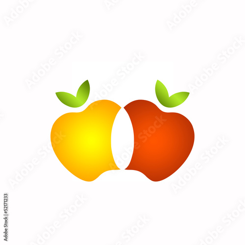 2 Apples Logo