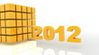 3D 2012 year golden
