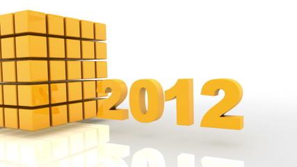 3D 2012 year golden