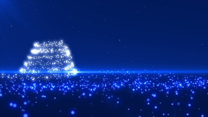 Blue Christmas Tree Background Loopable