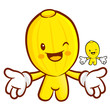 The Oriental melon mascot has been welcomed with both hands. Fru