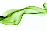 green abstract smoke curves