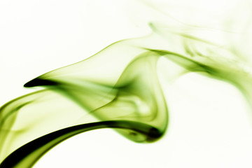 green abstract smoke curves