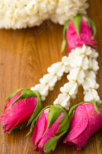Thai traditional jasmine garland( It's called Malai in Thai)