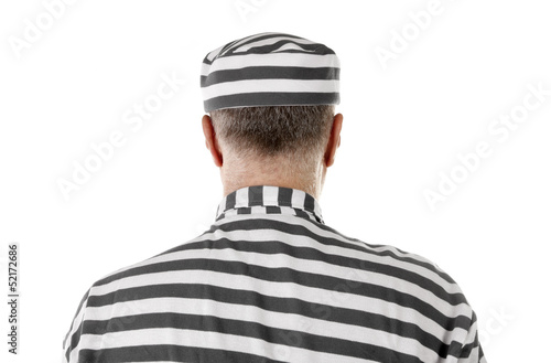 Convict prisoner jailbird rear view