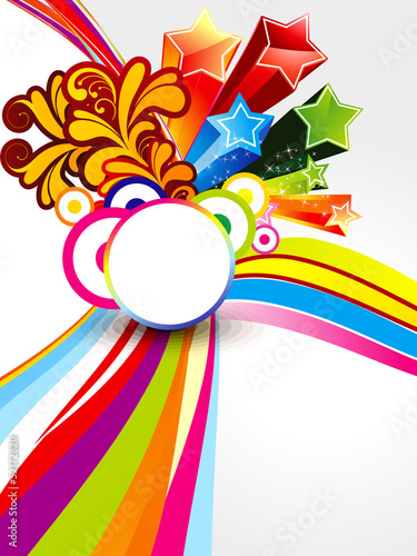 abstract colorful explode wave background