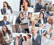 Montage of Successful Business Men & Women
