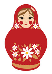 Russian doll in red