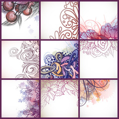 Set of floral backgrounds.