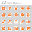 20 icons business orange