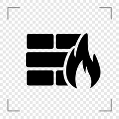 wall on fire Icon