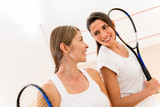 Female squash players