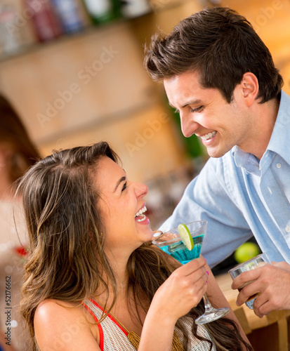 Couple having drinks