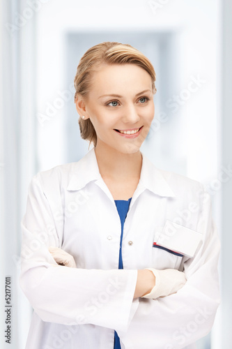 attractive female doctor