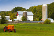 American Countryside Farm With Tractor