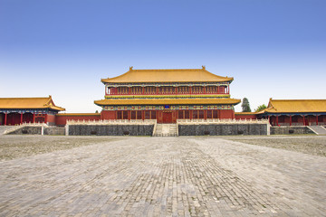 Building in the Forbidden City, Beijing, China