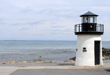 Lighthouse on Marginal Way Maine USA