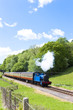 steam train, Lakeside and Haverthwaite Railway, Cumbria, England