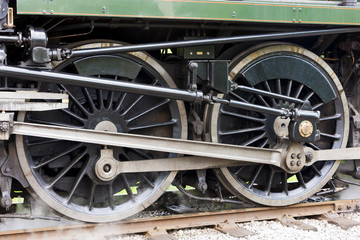 detail of steam locomotive, East Lancashire Railway, Lancashire