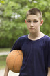 The boy and the basketball