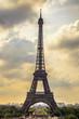 Eiffel Tower landmark, view from Trocadero. Paris, France.