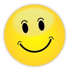 Smiley Button gelb