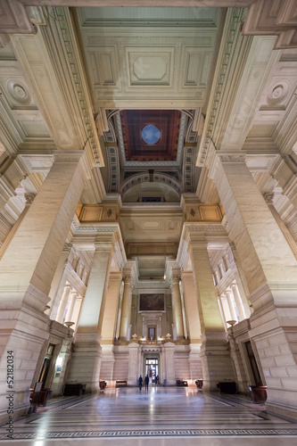 Bruxelles, Belgium - April, 4 2013: Palace of Justice (Palais de