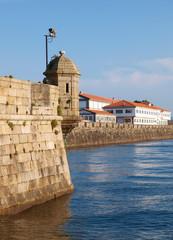 Curuxeiras Pier in Ferrol, Spain.