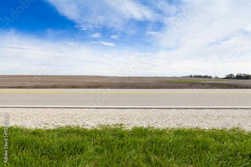 Leinwanddruck Bild American Country Road Side View