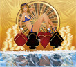 Summer poker time  background vector illustration