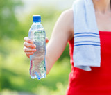 Hydration during workout poster
