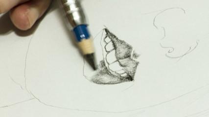 portrait drawing time lapse