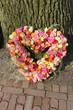 Heart shaped sympathy flowers