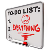 To-Do List Everything Dry Erase Board Overworked Stress