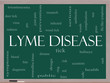Lyme Disease Word Cloud Concept on a Blackboard