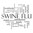Swine Flu Word Cloud Concept in Black and White