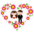 Wedding couple. Vector illustration