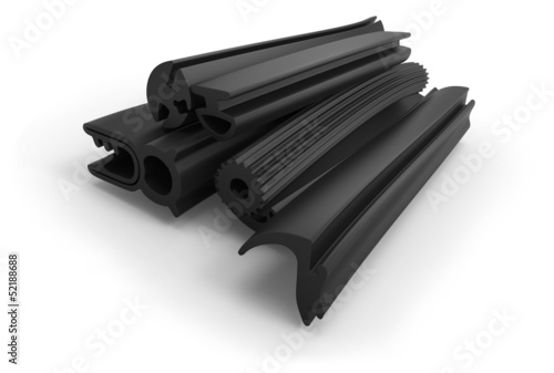 Extruded rubber profile (sealing)