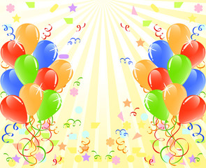 vector illustration of a bunch of balloons  with space for text.