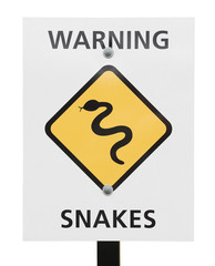 snakes warning sign