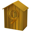 Golden starling house icon