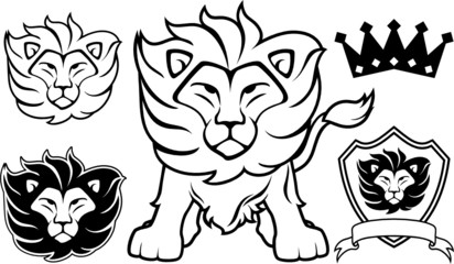 lion vector design elements