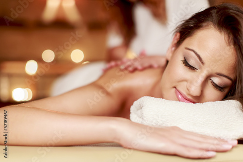 canvas print picture Massage