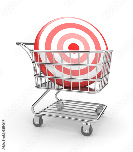 Shopping cart with arrow