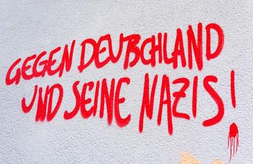 Grafffiti gegen Rechts