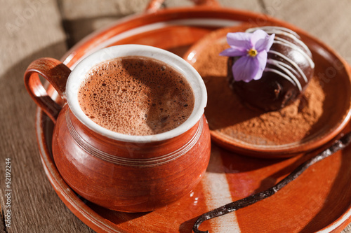 hot chocolate with chocolate ball