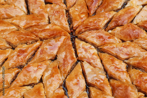 baklava, turkish ready for eating
