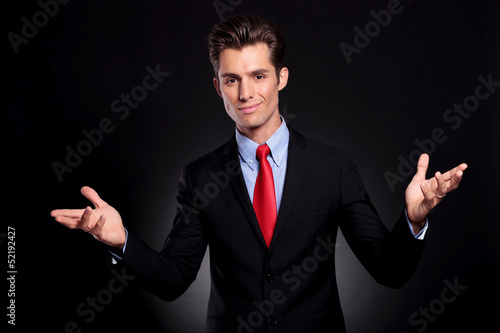 business man welcoming