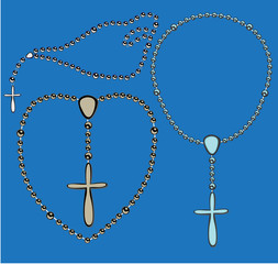 Metallic rosary set