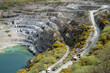 Delabole slate quarry North Cornwall England UK